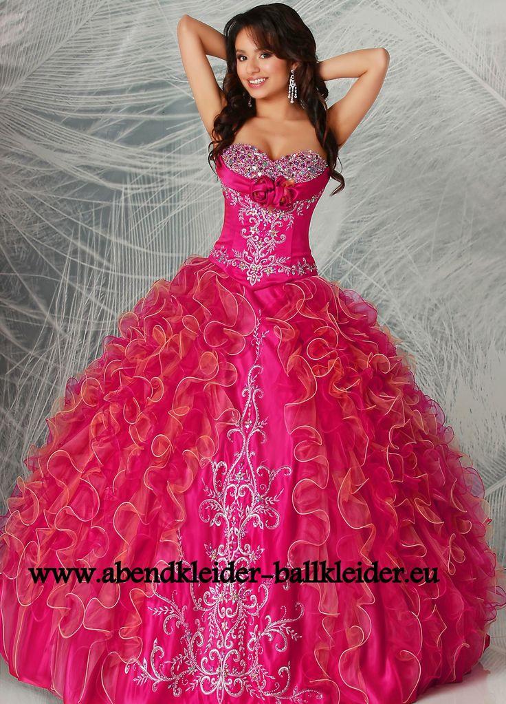 Sissi Kleid Ballkleid Online in Fuchsia