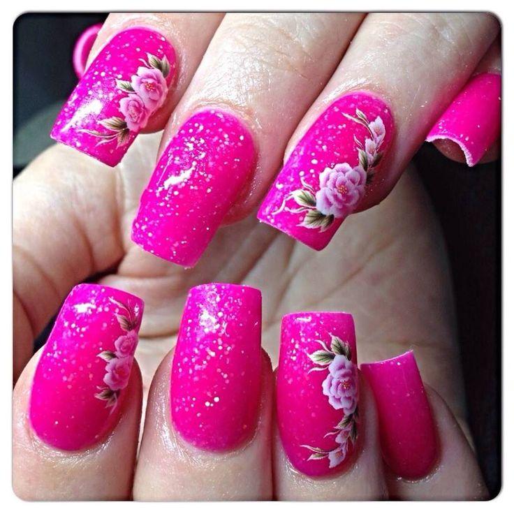 33 best Flowers Acrylic Nail Art images on Pinterest | Acrylic nail ...