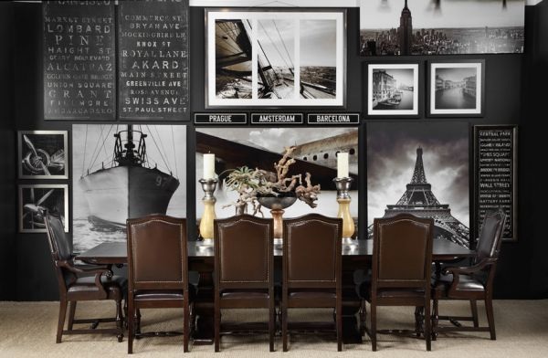 Add some adventure to your interiors with travel inspired black and white canvas