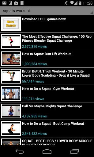 squats workout!<br>No gym to go to? no problem, squats workout is your own personal trainer, anywhere, any time. Get in shape, fast following any of the available videos in this app. No place and time limitations, exercise at home and feel good about your