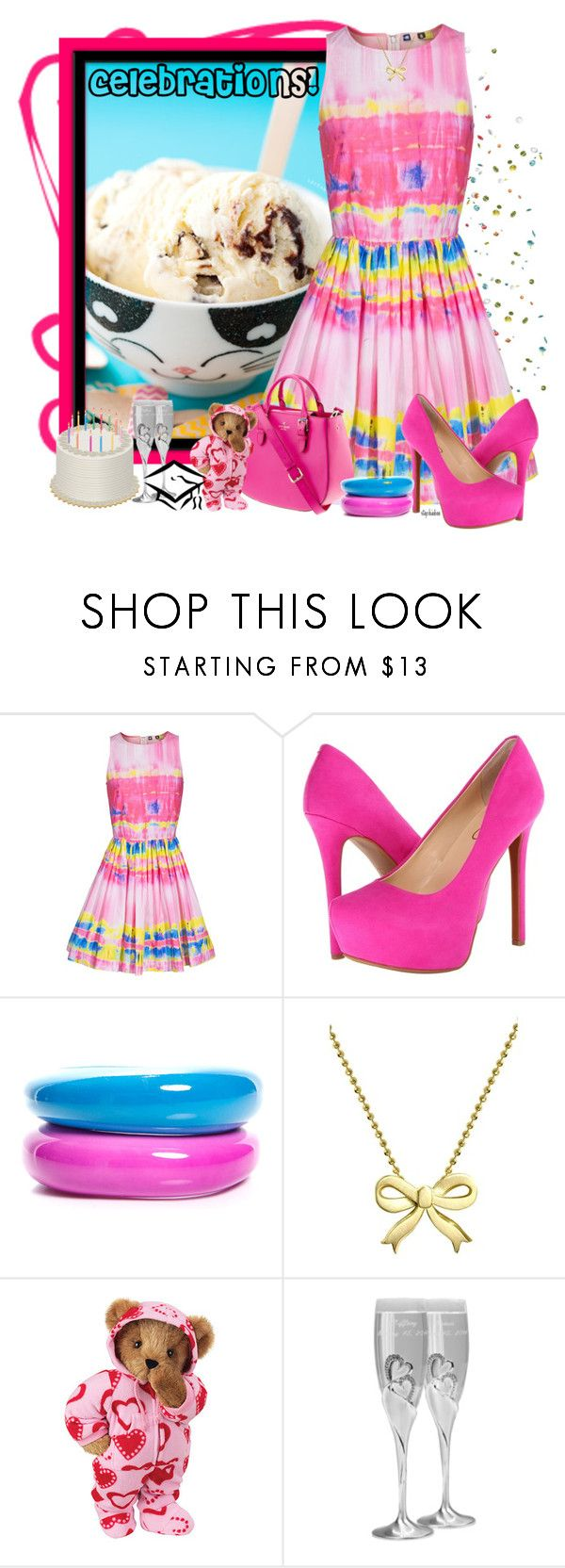 """Celebrate!"" by stephiebees ❤ liked on Polyvore featuring Lara, MSGM, Jessica Simpson, Kate Spade, Boohoo, Alex Woo and Hortense B. Hewitt"