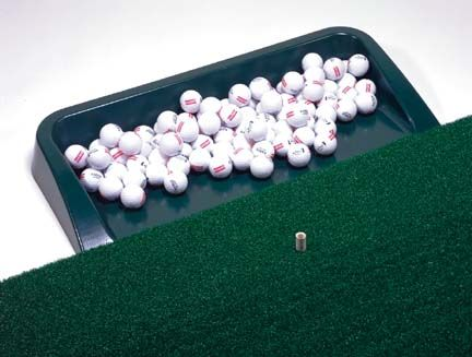 "Plastic Golf Range Tray: ""Sturdy plastic dark green range tray allows golfer to swiftly roll… #SportingGoods #SportsJerseys #SportsEquipment"