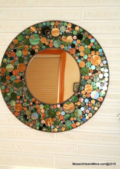 Stained glass mosaic mirrors brighten up your home, office, and are great to give as gifts. All of the designs seen here are original & copyrighted.