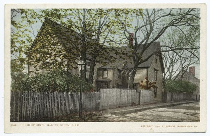 House of Seven Gables, Salem, Mass. From New York Public Library Digital Collections.