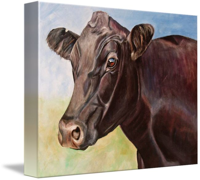 """Dolly the Angus Cow"" by Toni Grote: Print is reproduced from an original acrylic on canvas // Buy prints, posters, canvas and framed wall art directly from thousands of independent working artists at Imagekind.com."