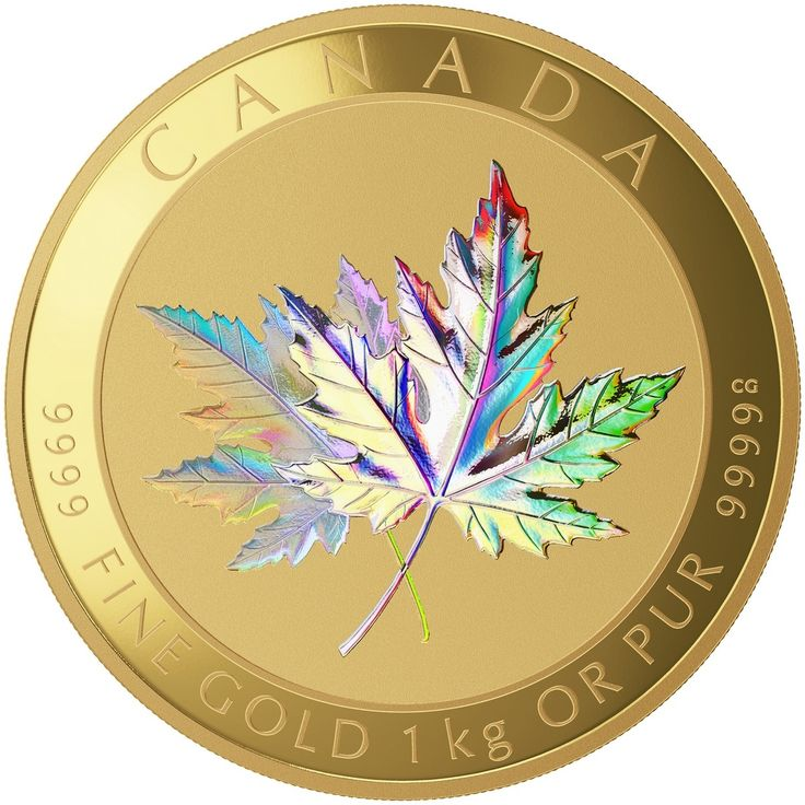 2015 $2500 Pure Gold Coin - Maple Leaf Forever