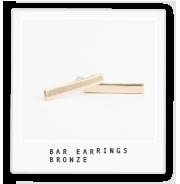 Bar Earrings – Bronze