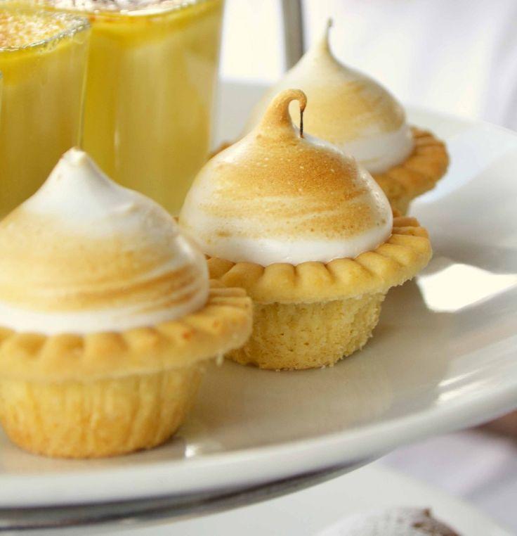 Tartas de merengue de limón