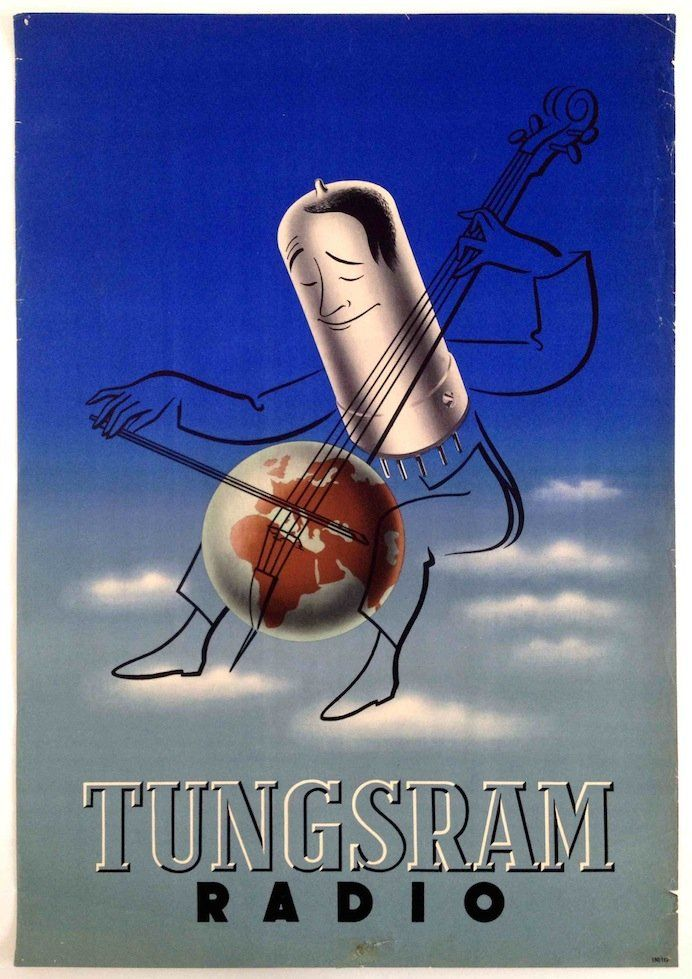 Tungsram, radio - 1950's - (Cemiczky) -