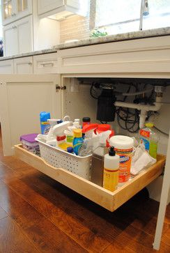 Beautifully Functional Kitchen transitional-cabinet-and-drawer-organizers