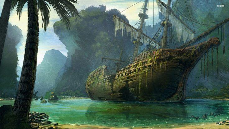 Pirate Ship Beach Google Zoeken Schepen Piraten
