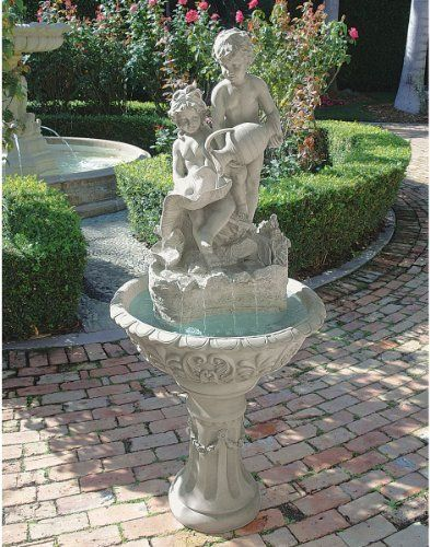 64 Italian Art Cherub Baby Angel Sculpture Statue Fountain Price : 642.95  Http://