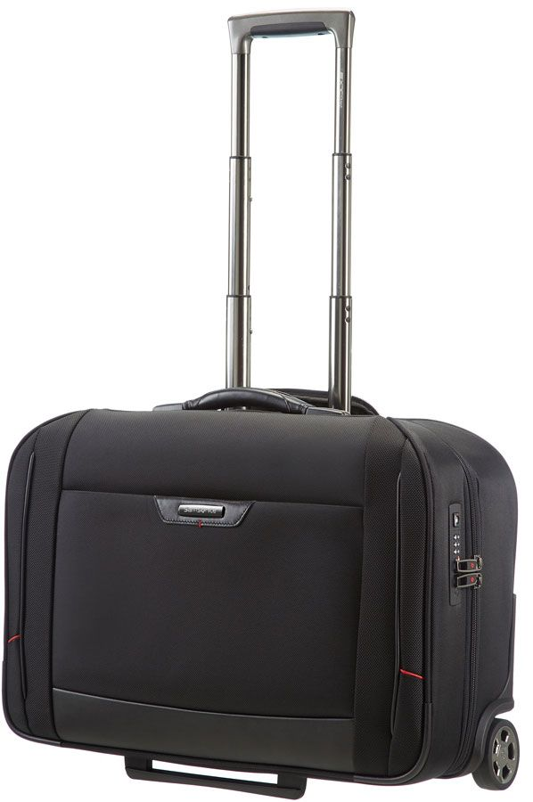 The Samsonite Pro DLX 4 Garment Bag.  It's dimensions are 40.0 x 20.0 x 55.0 cm.  Volume is 32.0 L and it weighs 3.71 kgs.  It comes with a 2 year global warranty.