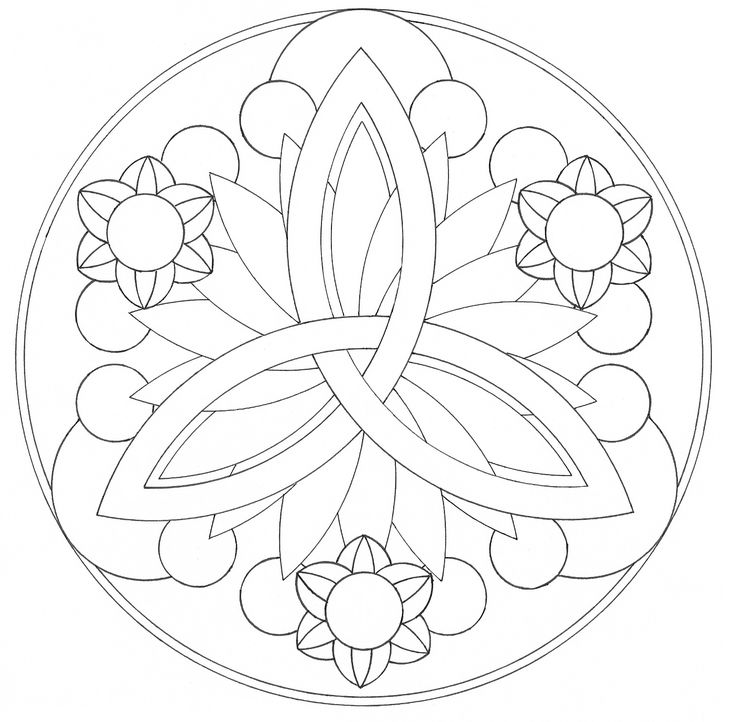 Mandala designs - I like the three points to rep. my kids