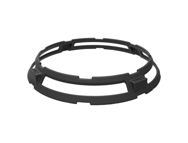 """Reversable wok ring suitable for all ranges, fitting pans of 14"""" and 16"""" of radius. Finishing, cast iron"""