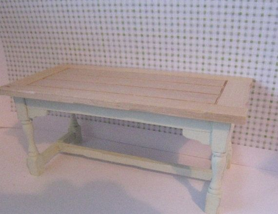 "Wlld Strawberry kitchen work table,  a twelfth (1"":1')  scale dollshouse miniature"