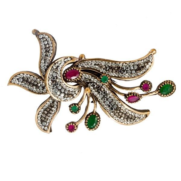Theia Silver Swarovski Brooch & Turkish Wholesale Silver Jewelry #wholesale #silver #jewelry #swarovski #brooch #turkish https://www.facebook.com/TheiaSilverJewelry