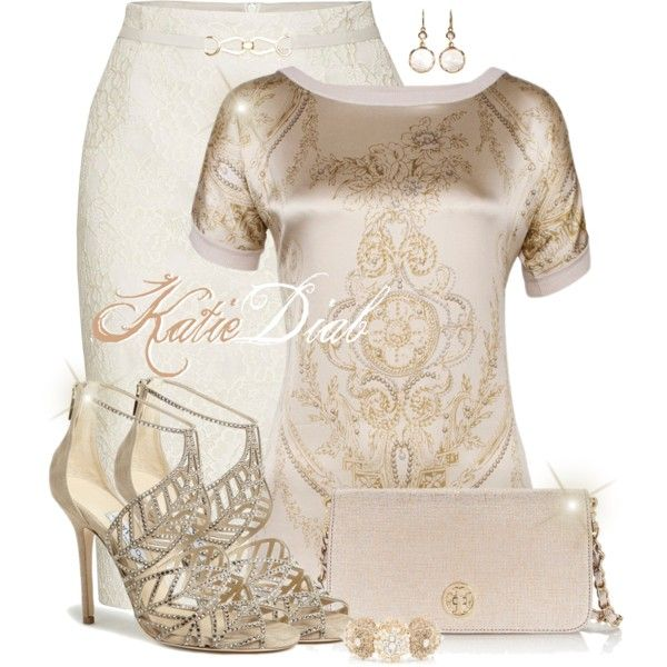 A fashion look from June 2014 featuring James Lakeland skirts, Jimmy Choo sandals and Tory Burch clutches. Browse and shop related looks.
