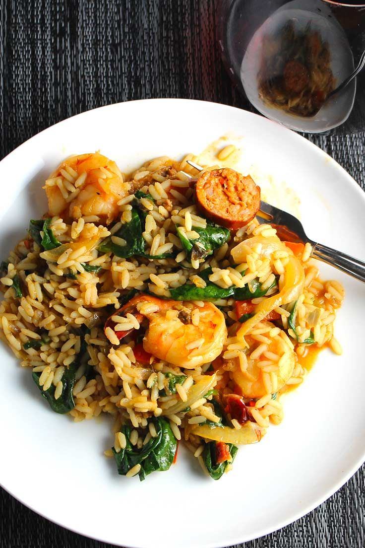 Turkey Sausage and Shrimp Jambalaya has so much great New Orleans flavor! Easy with a jump start from a @Zatarains  Jambalaya Mix. #SundaySupper