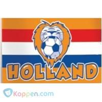 Vlag holland leeuw: 100x150 cm -  Koppen.com