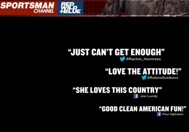 US for Palin has posted: Sportsman Channel: People Amazed by Amazing America, Marathon Starts Tonight 7 PM ET