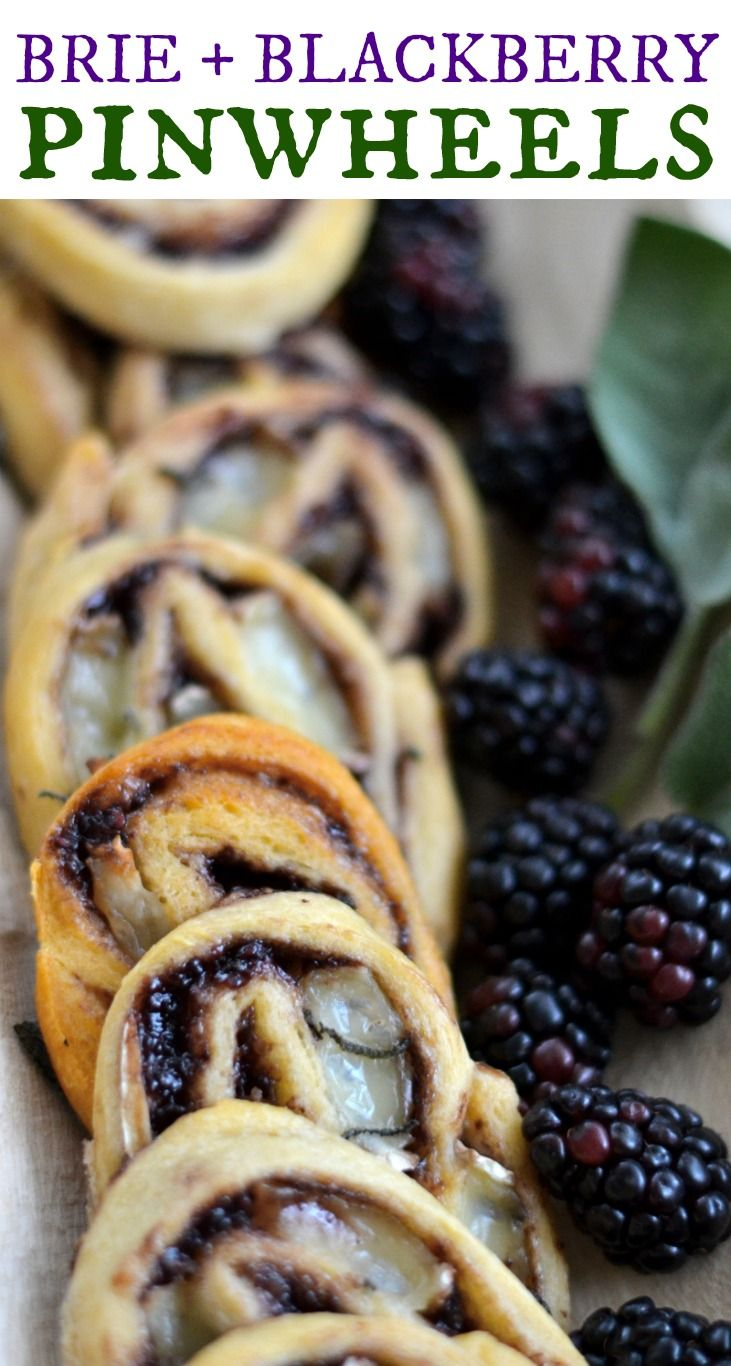 These brie, blackberry, and sage pinwheels are an easy, elegant appetizer. Only four ingredients! via @goodinthesimple