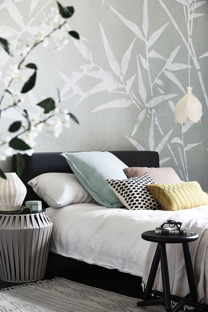 a mural in muted greys featuring a bamboo design reflects a sense of peace thats perfect bedroom photographypretty. Interior Design Ideas. Home Design Ideas