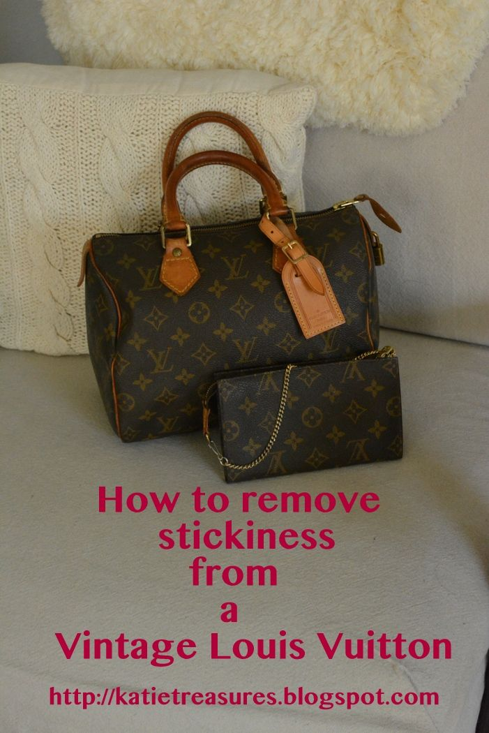 Removing Stickiness From A Louis Vuitton Pochette  d4420b266bae1