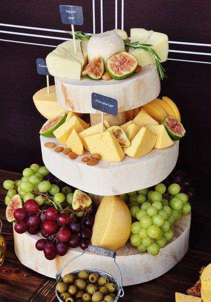 Оформление сырного стола   22 фотографии