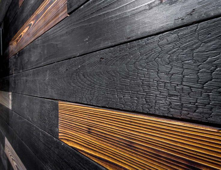 8 best shou sugi ban images on pinterest burnt wood charred wood and restaurant. Black Bedroom Furniture Sets. Home Design Ideas