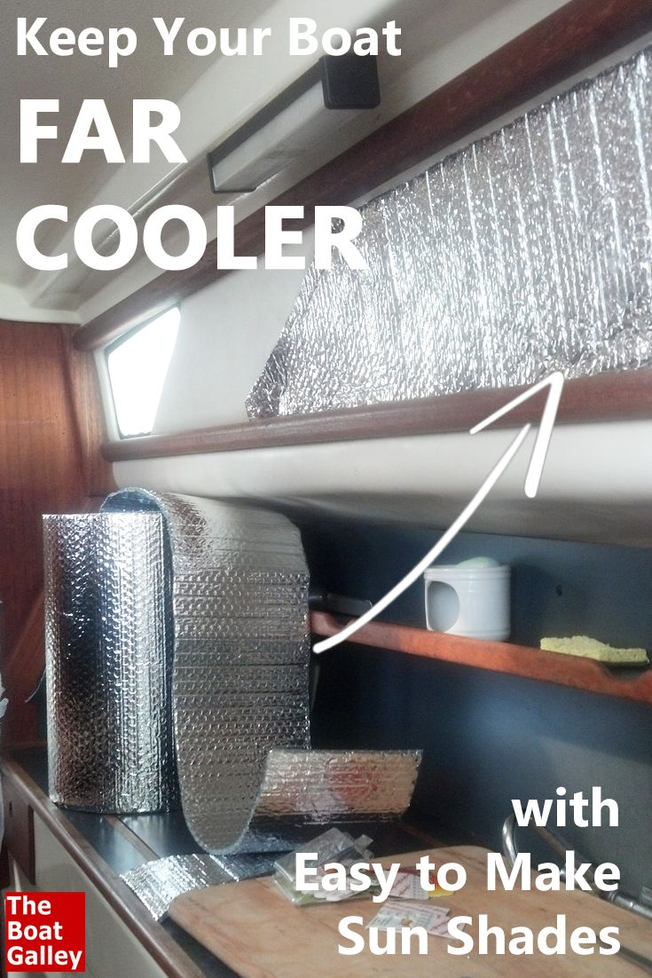Keep Your Boat Far Cooler By Putting These Shades Over The Sunniest Non Opening Windows