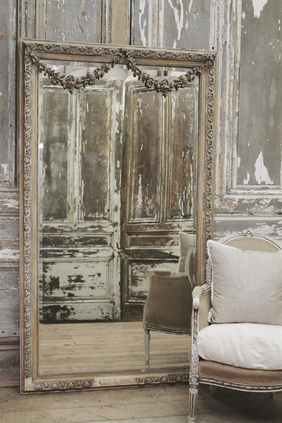 Antique Rose Swag Wall Mirror From Full Bloom Cottage