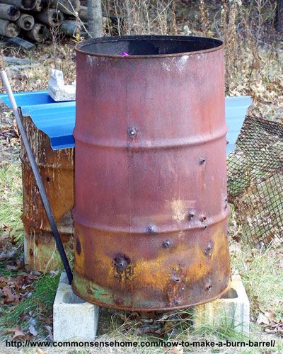 How to make a burn barrel that burns safely and efficiently without spending a lot of money.  Learn what can be burned, and how to have less smoke and a cleaner fire.