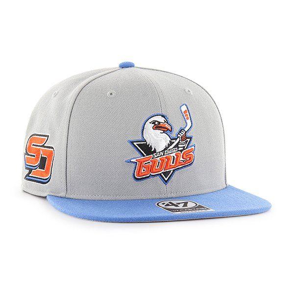 Black Men/'s AHL Hockey Ducks Cap New Era 59Fifty SD San Diego Gulls Fitted Hat