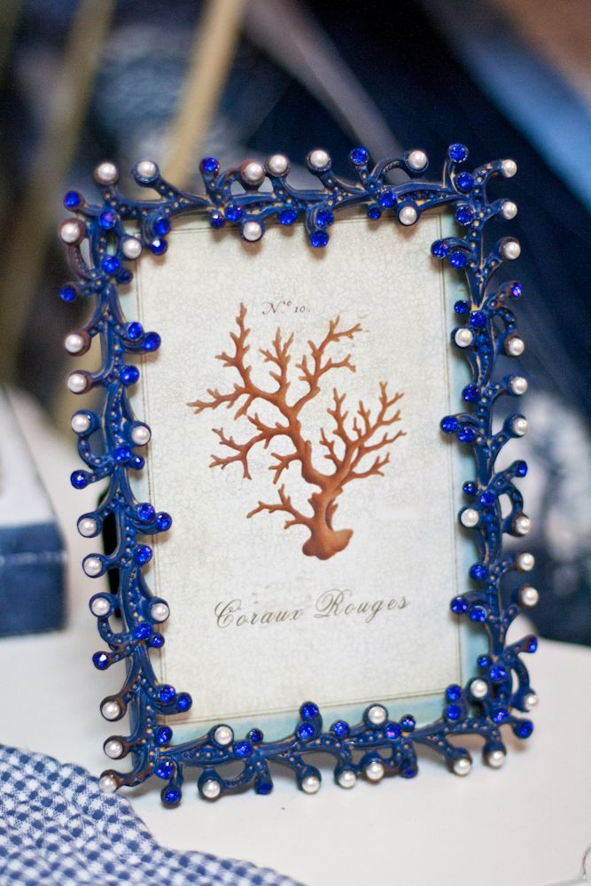 Blue Coral Frame  Home Decor 36 best Nautical images on Pinterest Beach cottages ideas