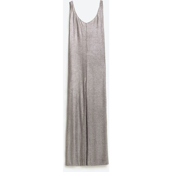 LONG JUMPSUIT WITH SLIT - NEW IN-TRF | ZARA United States ($50) ❤ liked on Polyvore featuring jumpsuits, long jumpsuits and jump suit