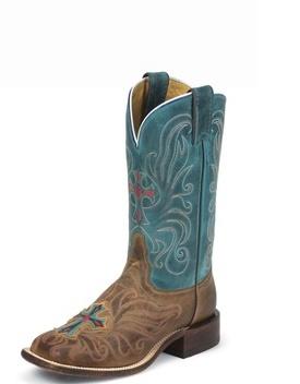 Tony Lama - San Saba: Cowgirl Boots, Style, Painted Crosses, Tony Lama, Cowboys Boots, Paintings Crosses, Vintage Cow, Crosses Boots, Currently Vintage