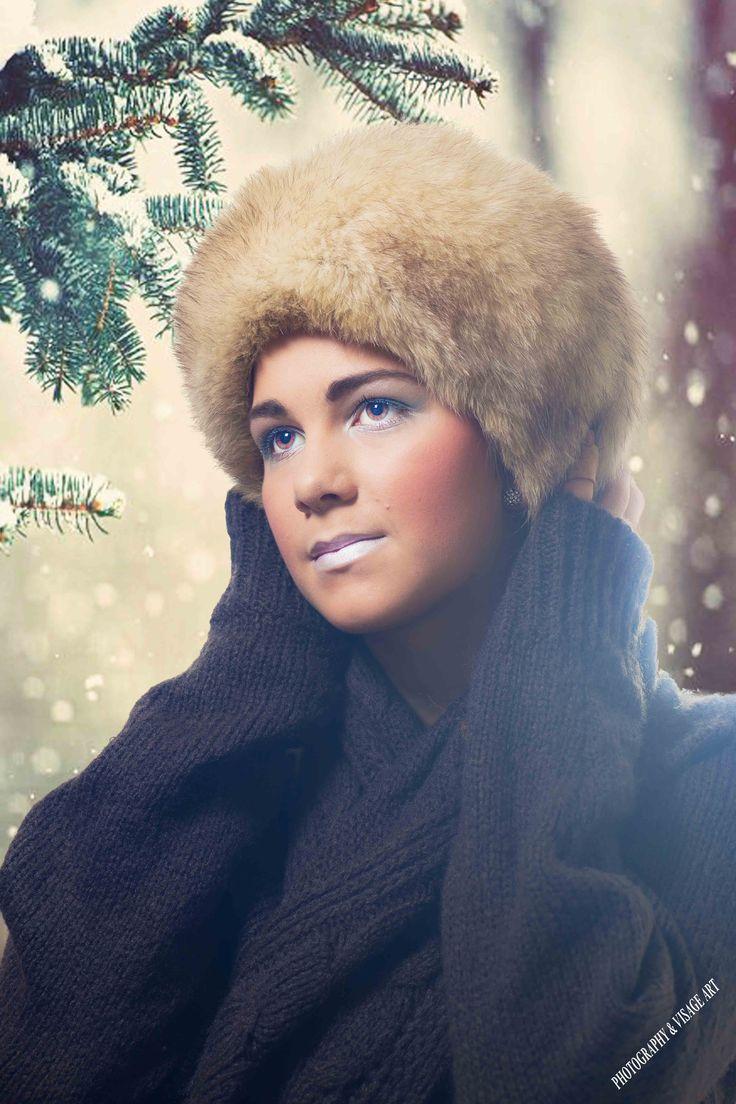 zimní inspirace modelka Valerie make up Pavlína Bečvarovová foto Michal Bečvarov