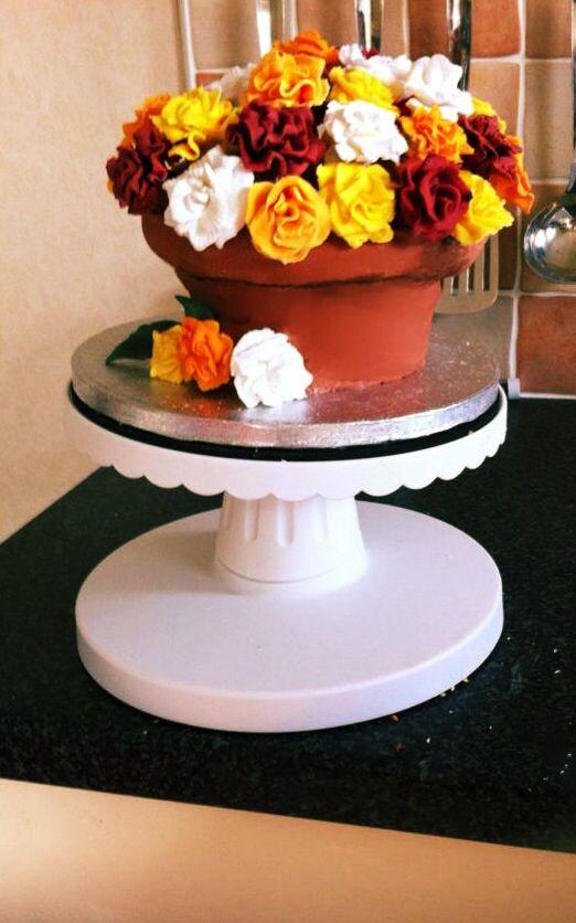 Flower pot cake I made