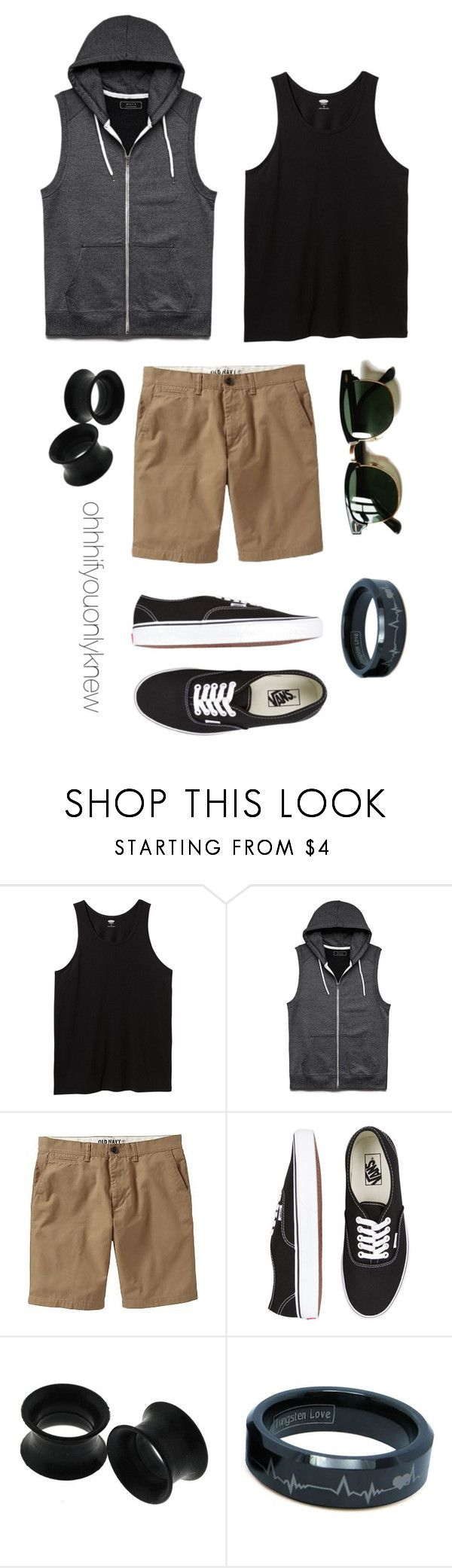 """Untitled #234"" by ohhhifyouonlyknew ❤ liked on Polyvore featuring Old Navy, 21 Men, Vans, Ray-Ban, tomboy, Lesbian, mycreations and dyke"