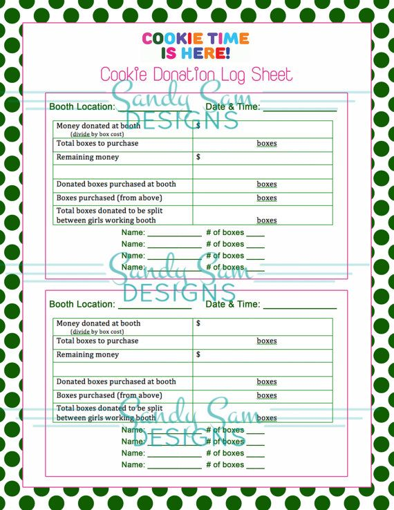 girl scout cookie sale organization pack by