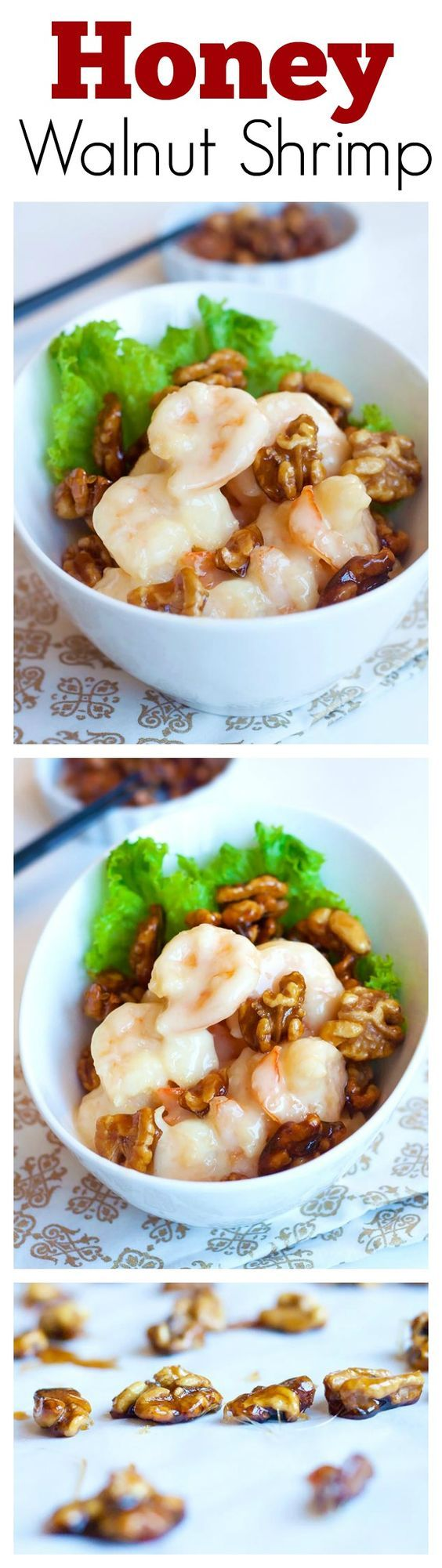 Honey walnut shrimp with sweet mayo sauce. Learn how to make it with this quick and easy recipe. So delicious, a must try | rasamalaysia.com