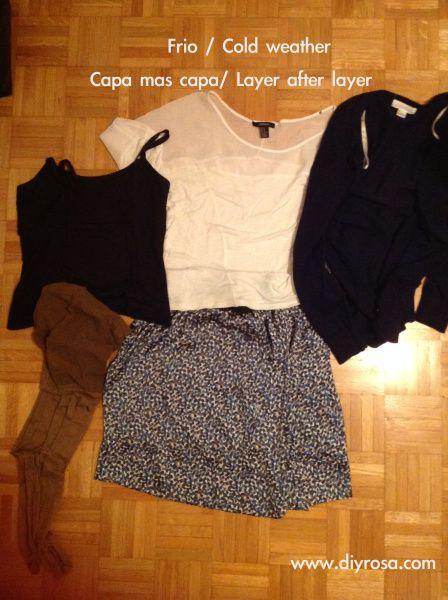 7 consejos para el frio:  2. Ponte varias capas de ropa/ Several layers of clothes