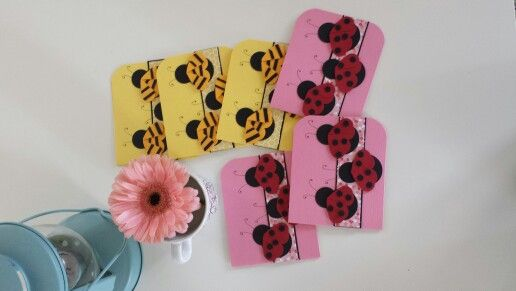 Fabulous lady bug and bumble bee cards for sale at www.facebook.com/oopsie.daisy.scarves.cards