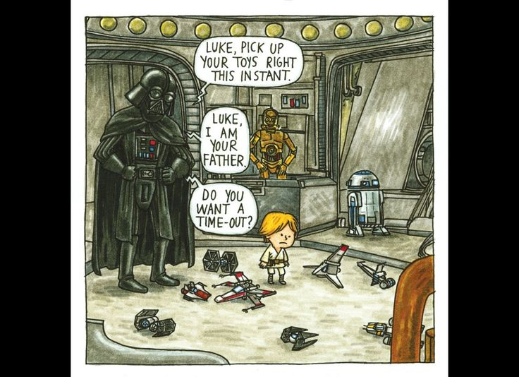 'Darth Vader And Son' Illustrations of Luke As A 4-Year-Old By Jeffrey Brown..Luke- I am your father