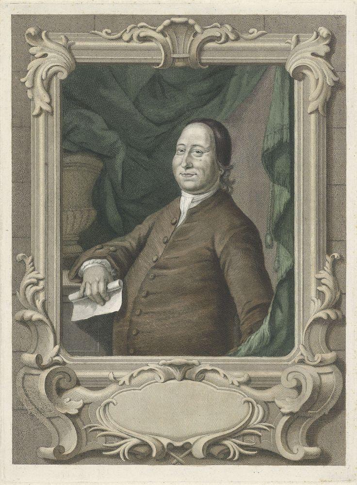 Jacob Houbraken | Portret van Nikolaus Ludwig, graaf von Zinzendorff, Jacob Houbraken, 1762 - 1764 |