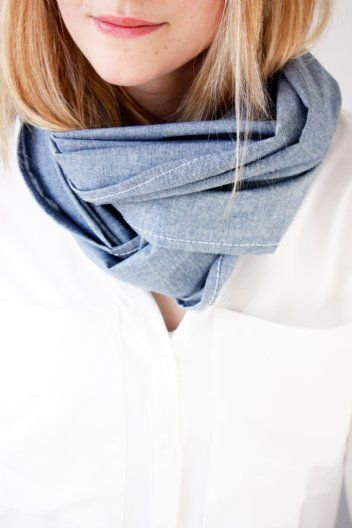 Chambray scarf