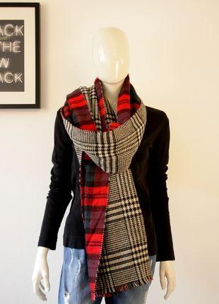 Kaufe meinen Artikel bei #Kleiderkreisel http://www.kleiderkreisel.de/accessoires/xl-schals/128764064-zara-xxl-schal-karo-tartan-blogger-rot-schwarz-weiss-ausverkauft