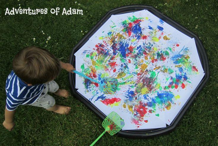 Adventures of Adam Paint splat materpiece