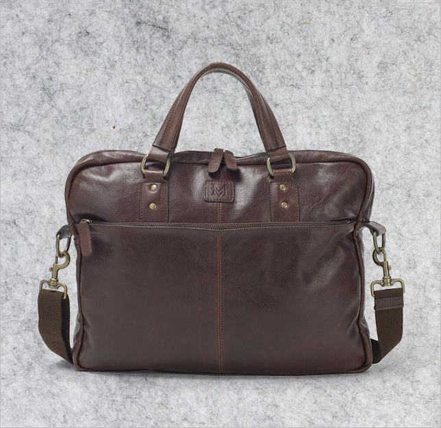 Gents leather office bag from Mat & May